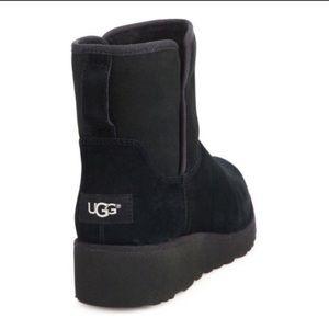 NWOT UGG KISTIN BOOT CLASSIC SLIM BLACK SUEDE